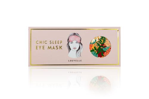 Louvelle Chloe Eye Mask Jaguar Jungle Print