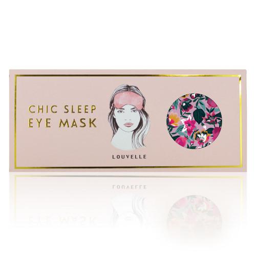 Louvelle Chloe Eye Mask Halcyon Garden Print