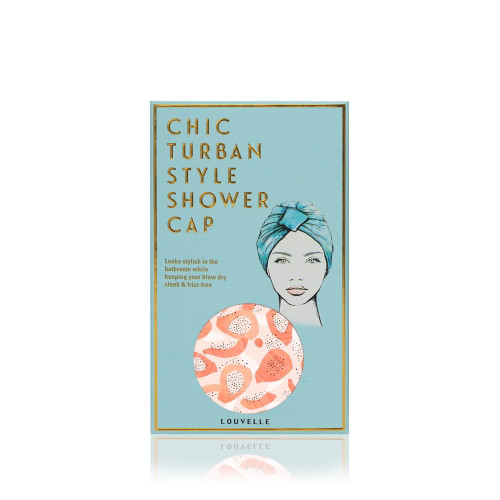 Amelie Shower Cap Peach Papaya Print