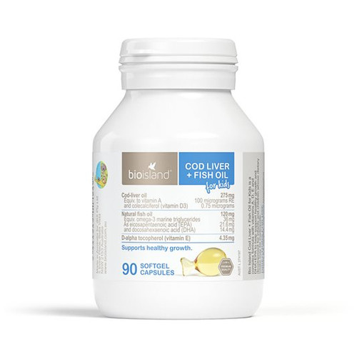 Cod Liver + Fish Oil for Kids 90 capsules