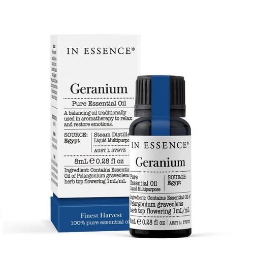 In Essence Geranium Pure Essential Oil 8ml
