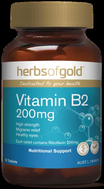 Vitamin B2 200mg 60 Tablets