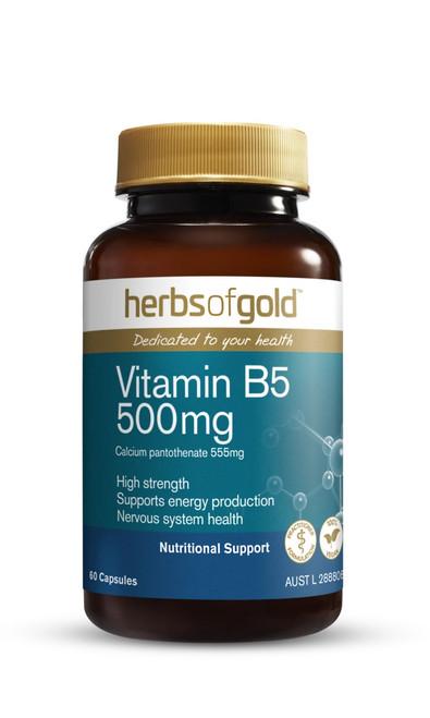 Vitamin B5 500mg 60 Capsules