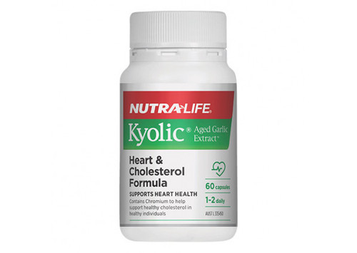 Nutra-Life Kyolic® Aged Garlic Extract™ Heart & Cholesterol Formula 60 Capsules