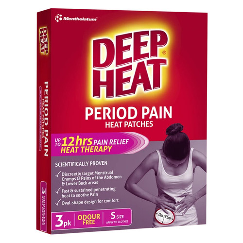 Deep Heat Period Pain Heat Patches 3 Pack