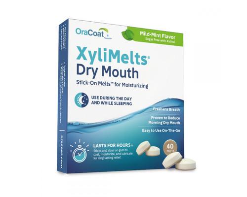 OraCoat XyliMelts Dry Mouth Stick-On Melts Mild-Mint 40 Melts