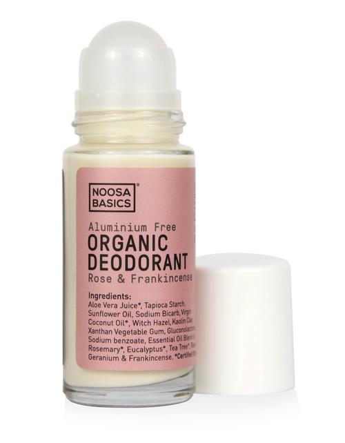 NOOSA BASICS Organic Roll-On Deodrant 50ml Rose and Frankincense