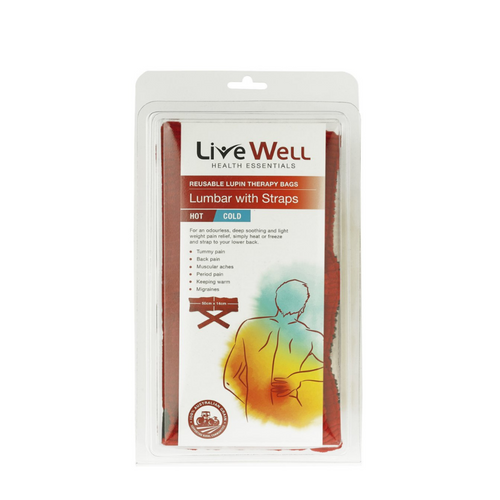 Live Well Health Essentials Lumbar with Straps Hot & Cold Bag