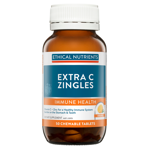 Ethical Nutrients Extra C Zingles Orange 50 Chewable Tablets