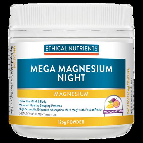 Ethical Nutrients Mega Night Magnesium 126g Mango Passion