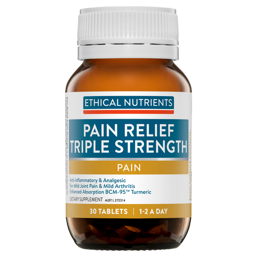Ethical Nutrients Pain Relief Triple Strength with Turmeric 30 Tablets