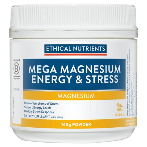 Mega Magnesium Energy & Stress 140g