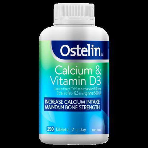 Calcium & Vitamin D3 Tablets 250 Pack