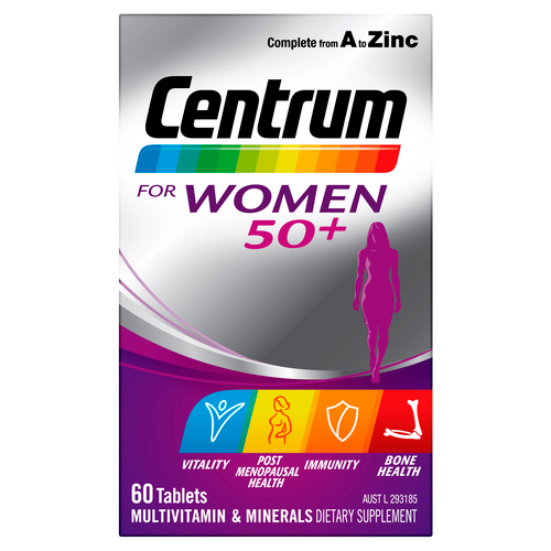 For Women 50+ 60 Tablets