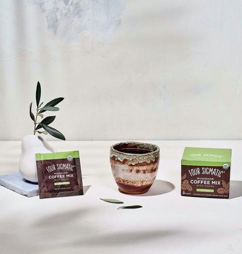 Four Sigmatic Mushroom Coffee with Chaga and Cordyceps 10 Packets