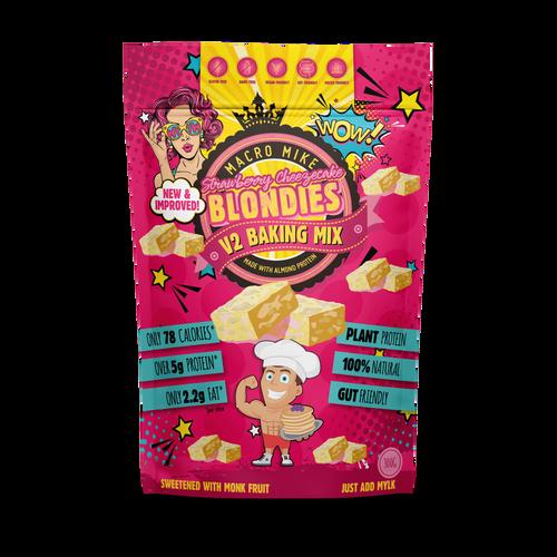 Macro Mike Strawberry Cheezecake Blondies Baking Mix 300g