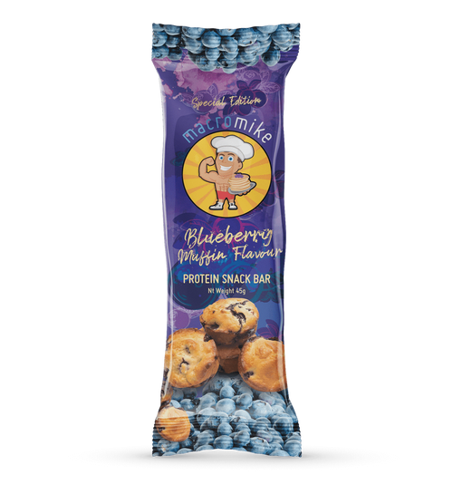Macro Mike Blueberry Muffin Almond Protein Bar 45g