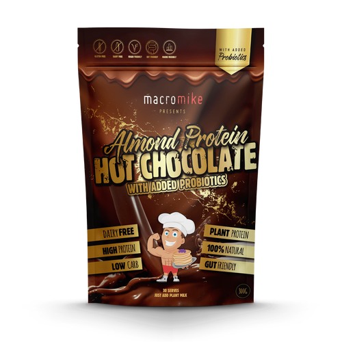 Macro Mike Almond Protein Probiotic Hot Chocolate 300g