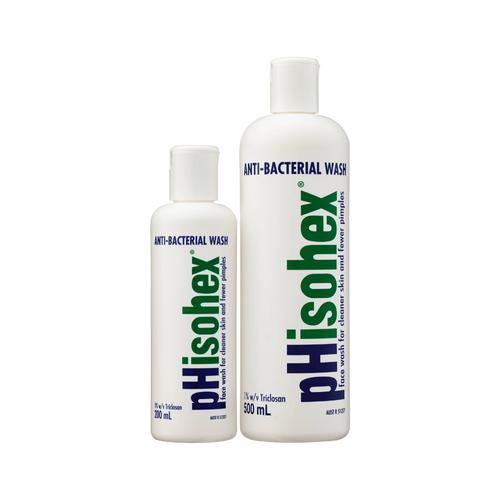 pHisohex Anti-Bacterial Wash 200ml + 500ml bottles