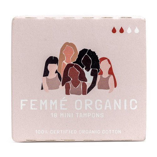 Femme Organic Cotton Tampons 18 Pack