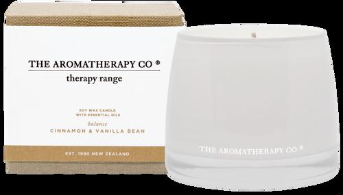 The Aromatherapy Co Balance Cinnamon & Vanilla Bean Candle 260g