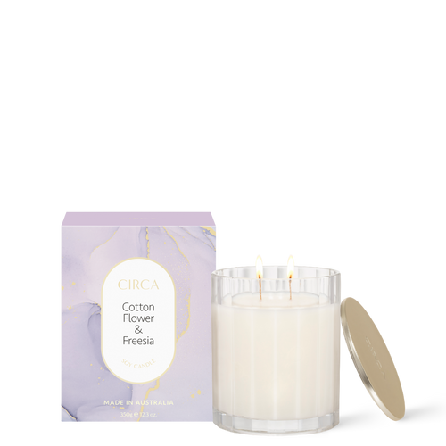 Circa Home Cotton Flower & Freesia Soy Candle 350g