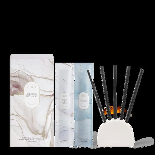 Circa Home Oceanique and Jasmine & Magnolia Liquidless Diffuser Set