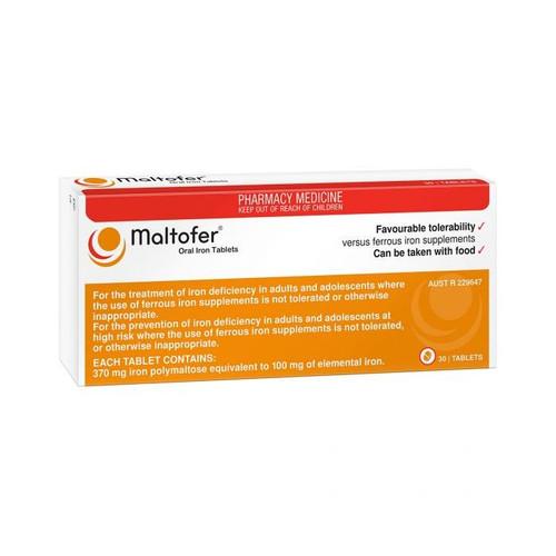 Maltofer Oral Iron 100mg 30 Tablets