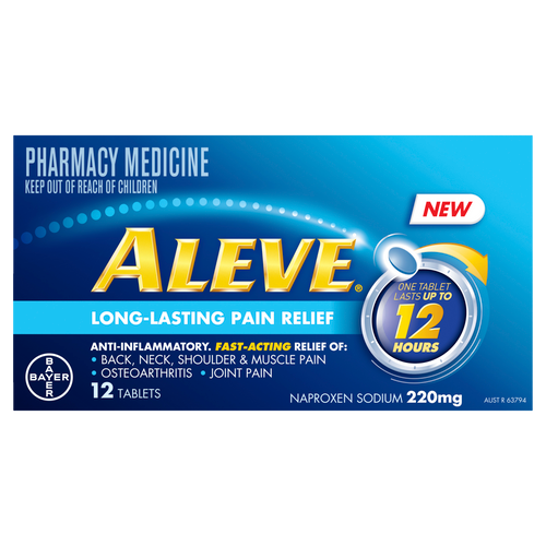 Aleve 12 Hour Anti-Inflammatory Pain Relief Tablets 12 Pack