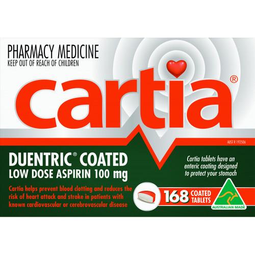 Cartia Cartia 100mg 168 Tablets
