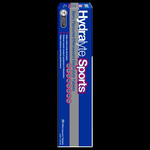 Hydralyte Sports Effervescent Electrolyte Tablets Berry 20 Pack