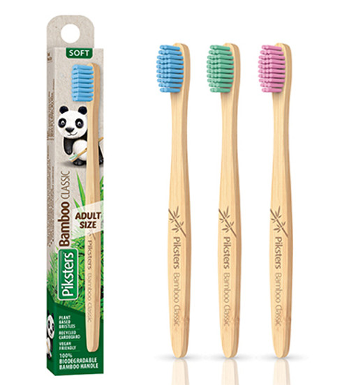 Piksters Bamboo Classic Soft Toothbrush