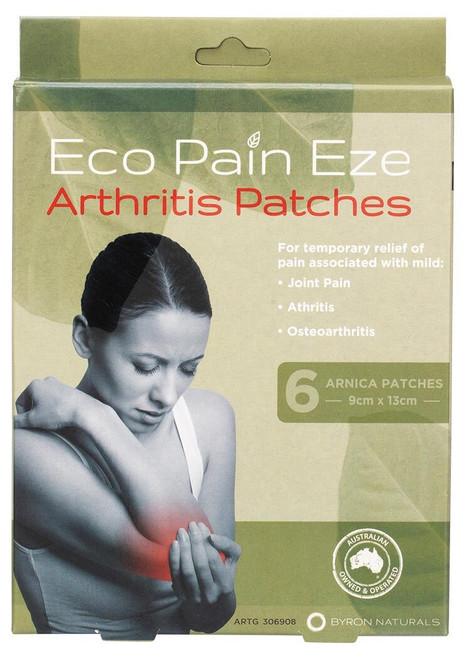 Byron Naturals Eco Pain Eze Arthritis Patches 9cmX13cm 6 Pack