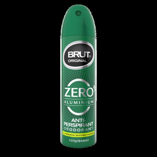 Brut Zero Aluminium Anti Perspirant Deodrant 150g