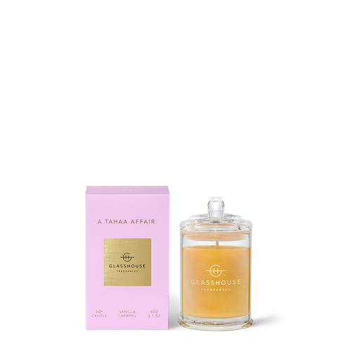 Glasshouse A Tahaa Affair Soy Candle - Vanilla Caramel