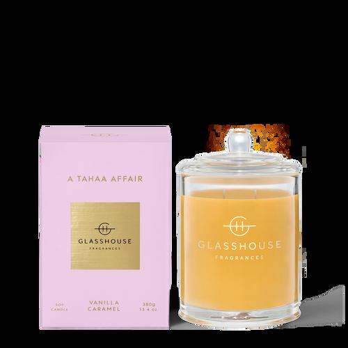 Glasshouse A Tahaa Affair Soy Candle - Vanilla Caramel 380g