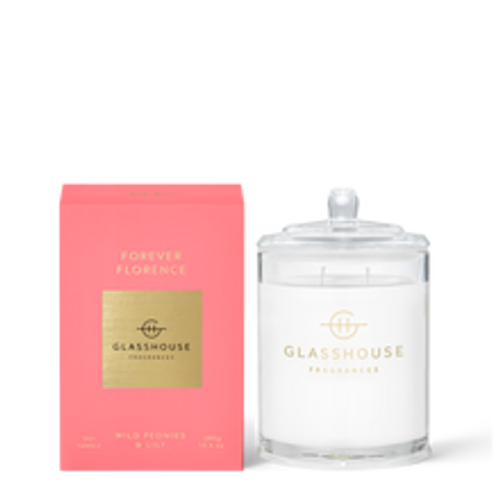 Glasshouse Forever Florence Soy Candle - Wild Peonies & Lily 380g