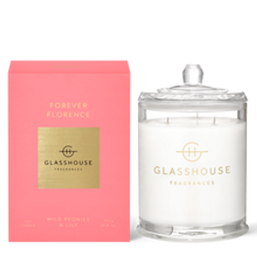 Glasshouse Forever Florence Soy Candle - Wild Peonies & Lily 760g