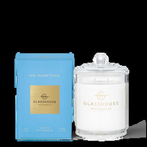 Glasshouse The Hamptons Soy Candle - Teak & Petitgrain 380g