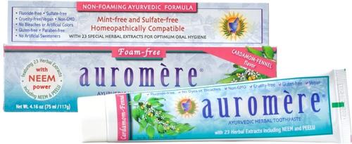 Auromere Ayurvedic Cardamom-Fennel Toothpaste 117g