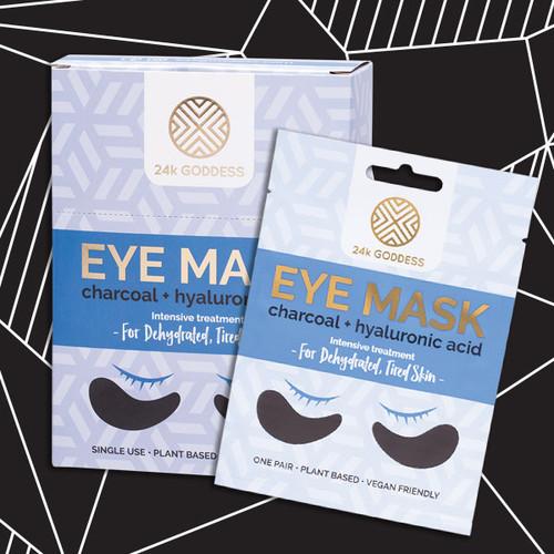 24k Goddess Charcoal + Hyaluronic Acid Eye Masks 1 Pair