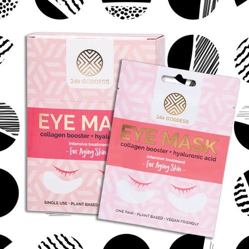24k Goddess Collagen Booster + Hyaluronic Acid Eye Masks 1 Pair