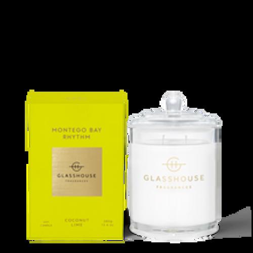 Glasshouse Montego Bay Rhythm Soy Candle - Coconut & Lime 380g
