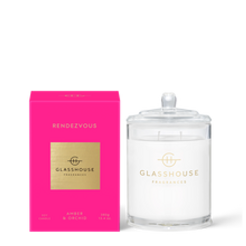 Glasshouse Rendezvous Soy Candle - Amber & Orchid 380g