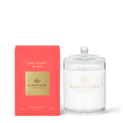 Glasshouse One Night In Rio Soy Candle - Passionfruit & Lime 380g