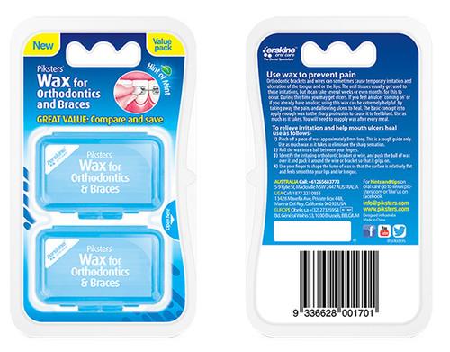 Piksters Othodontics & Braces Wax 2 Pack