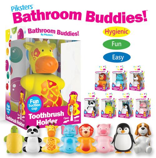 Piksters Bathroom Buddies Toothbrush Holder