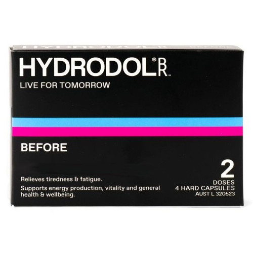 Hydrodol Before Hangover Relief 2 Doses 4 Capsules
