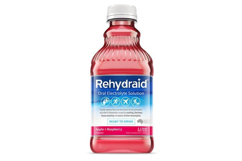 Rehydraid Oral Electrolyte Solution 1 Litre - Apple Raspberry