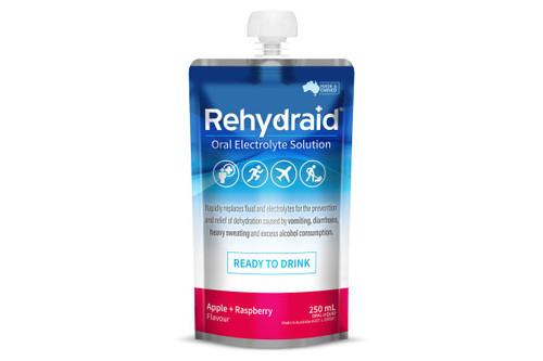 Rehydraid Oral Electrolyte Solution 250ml - Apple Raspberry